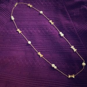 NWOT Kate Spade pearl and bow necklace